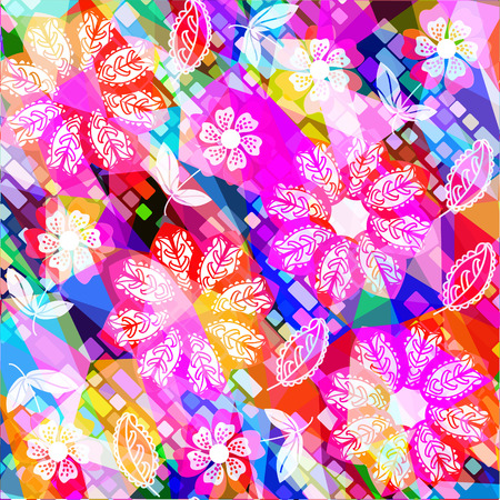 transparence: Floral vector background