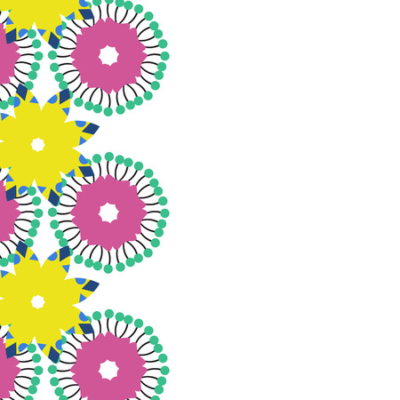 blumen abstrakt: Simple floral abstract card with place for text, vector illustration