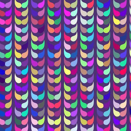 odd: Cute retro vivid odd  geometric abstract texture, vector illustration Illustration