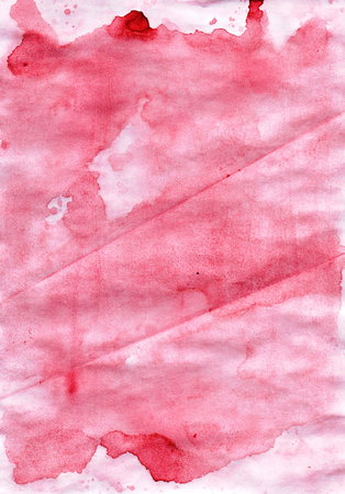wash painting: Cute watercolour abstract red wash painting   backdrop for design