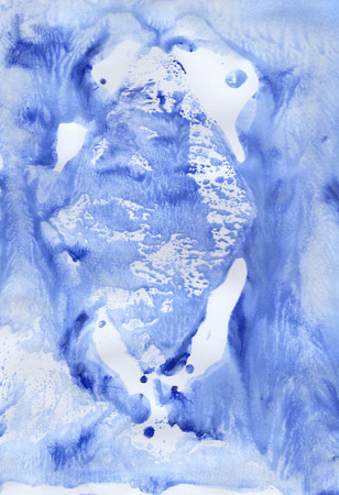watercolour: Blue soft watercolour background