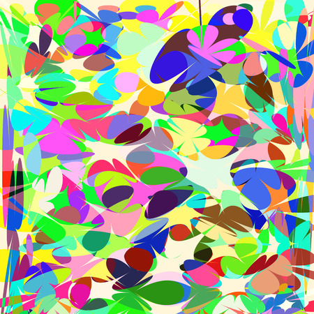 transparence: Multicolor  vivid mosaic  geometric background, vector. Cute texture for different design. Illustration