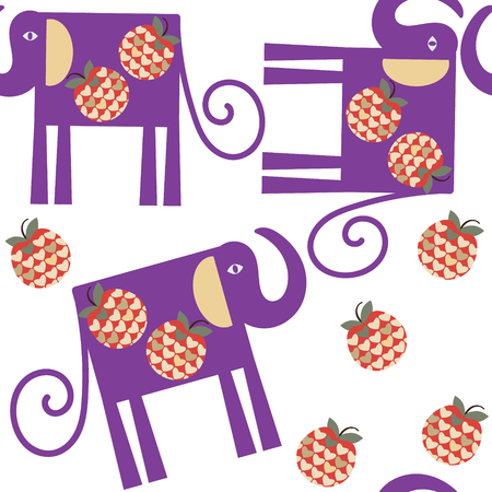 Elephant  seamless pattern, vector. It is located in swatch menu, cute image for design
