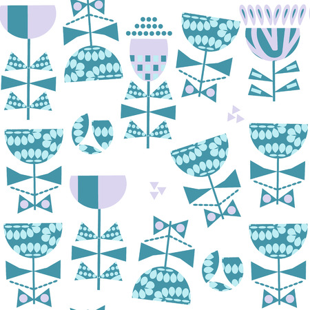 Floral seamless vector pattern. It is located in swatch menu Illustration