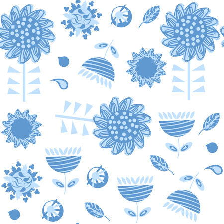 Floral seamless pattern. It is located in swatch menu, vector image