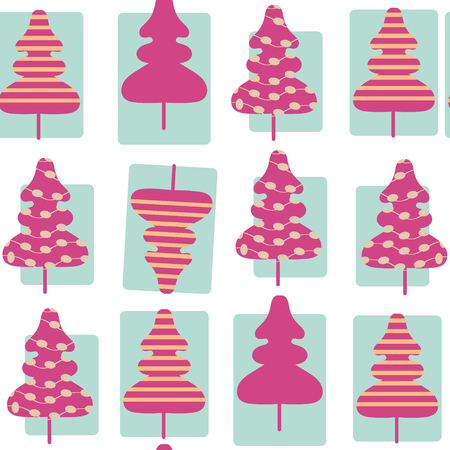 spruse: Spruse tree seamless simple pattern, vector image. It is located in swatch menu. Cute illustration  for design. Illustration