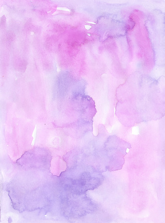 wash painting: Watercolor  violet  monochromatic handiwork wash  painting colorful background design. Nice image or backdrop. Vivid illustration.