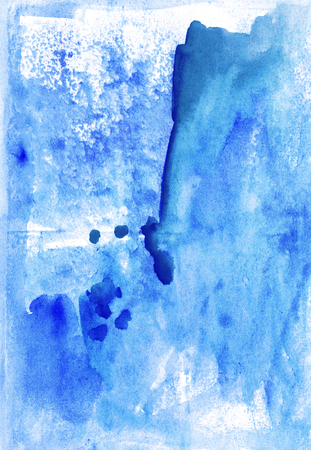 wash painting:  Watercolour blue  handiwork wash  painting colorful background design. Nice picture  or backdrop. Vivid image.   Stock Photo