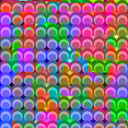 rounds: Geometric abstract background, vector image Illustration