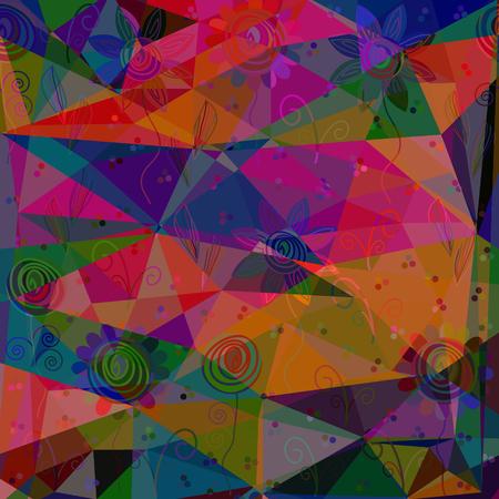Geometric floral vector background Illustration