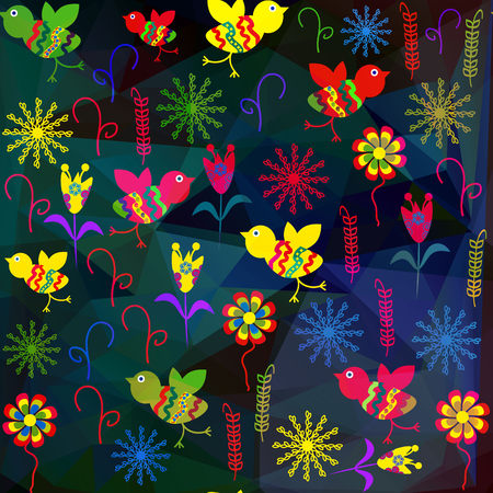 Floral transparense abstract background, vector image Illustration