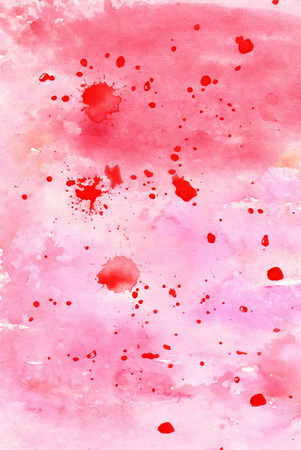 Abstract pink watercolour background design Stock Photo