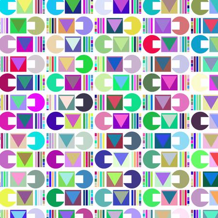 Geometric abstract retro vector illustration