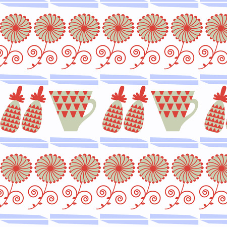 Abstract tea floral background, vector illustration Illustration