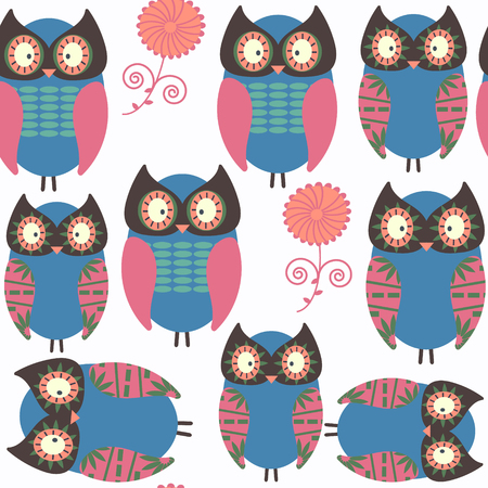 Owls abstract nature animals  pattern.