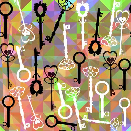 Abstract vintage colorful vivid keys pattern background
