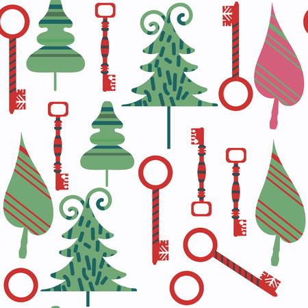 Keys abstract seamless pattern. It is located in swatch menu, vector image. Cute background for beautiful design