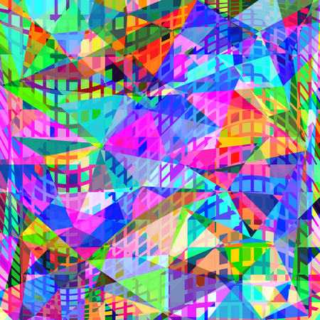 Abstract geometric vector neon background
