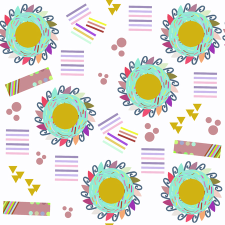 Abstract geometric adorable seamless pattern Illustration