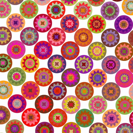Abstract geometric floral rounds vector background Illustration