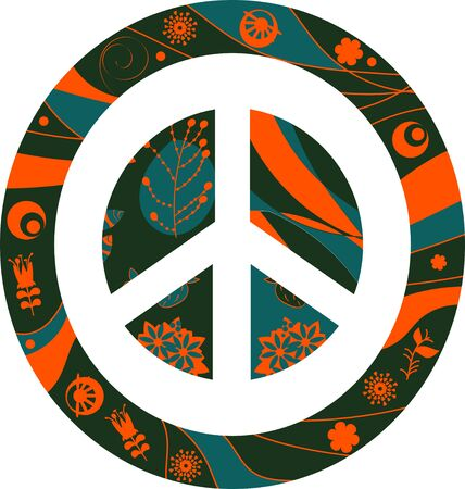 Abstract vector peace sign. Colroful image for design Ilustracja