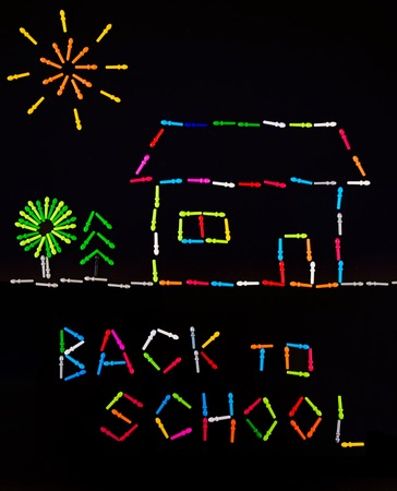 Motivation concept image created with colourful peg board pieces