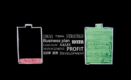 Battery Recharge. Business Concept Banque d'images