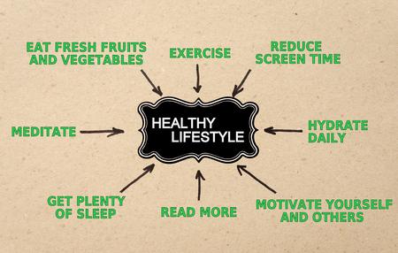 Healthy lifestyle - black label. Concept