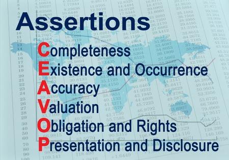 Assertions CEAVOP  Financial audit acronym