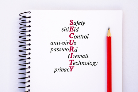 Acronym SECURITY Concept image Reklamní fotografie