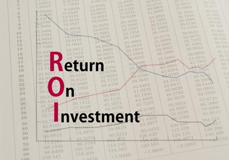 ROI Acronym return on investment. concept