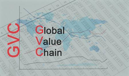 Acronym GVC - Global Value Chain Banque d'images