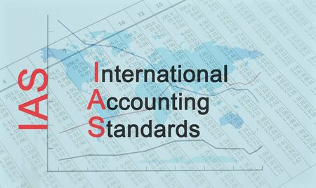 Acronym IAS - International Accounting Standards Banque d'images