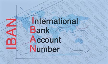 Acronym IBAN - International Bank Account Number Banque d'images