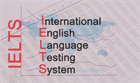 Acronym IELTS - International English Language Testing System Banque d'images