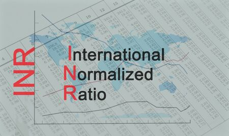 Acronym INR - International Normalized Ratio Banque d'images