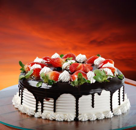 딸기 케익 스톡 콘텐츠