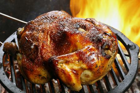 Roast chicken Standard-Bild