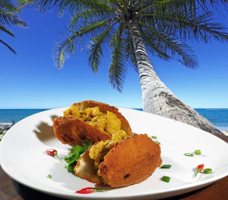 red palm oil: Acaraj of Bahia