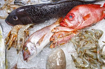 fishmonger: fishmonger of varied seafood