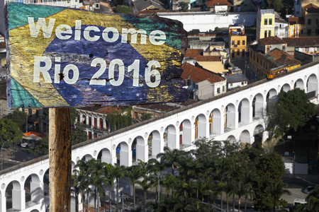 turistic: Welcome sign to Rio de Janeiro.