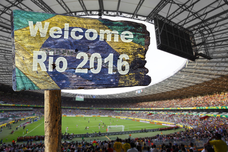 rio de janeiro: Welcome sign to Rio de Janeiro.