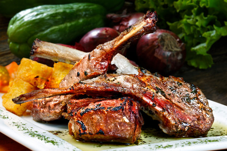 Rack of Lamb Stockfoto