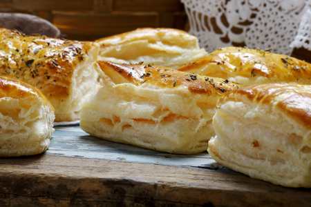 puff: Pies of puff pastry Stock Photo