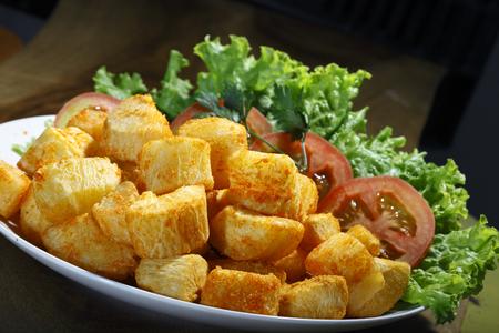 fried yucca Stock Photo