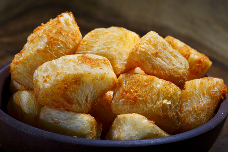 yucca: fried yucca Stock Photo