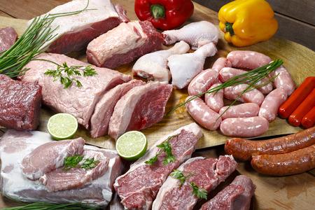 carnes: carnes crudas