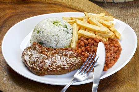 Riz aux haricots et de viande Banque d'images