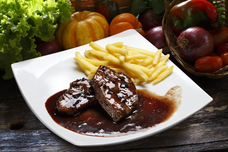 wine sauce: Steak wine sauce
