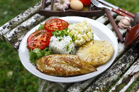 chicken fillet: chicken fillet with grommets